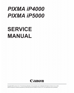 Canon PIXMA iP5000 Service Manual