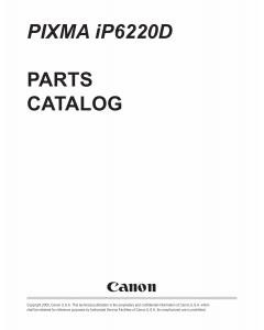 Canon PIXMA iP6220D Parts Catalog