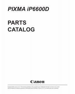 Canon PIXMA iP6600D Parts Catalog