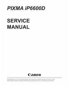 Canon PIXMA iP6600D Service Manual