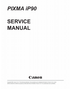 Canon PIXMA iP90 Service Manual
