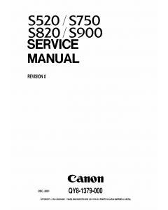 Canon PIXUS S520 S750 S820 S900 Service Manual