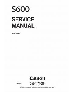 Canon PIXUS S600 Service Manual