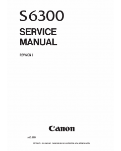 Canon PIXUS S6300 Service Manual