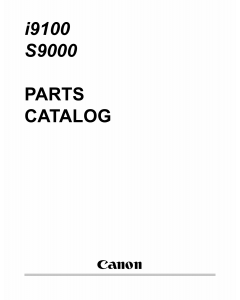 Canon PIXUS S9000 i9100 Parts Catalog Manual