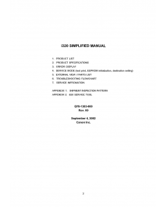 Canon PIXUS i320 Service Manual Simplified
