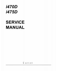 Canon PIXUS i470D i475D 470PD Service Manual