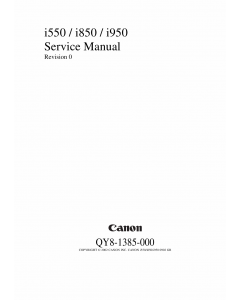 Canon PIXUS i550 i850 i950 Service Manual