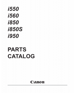 Canon PIXUS i560 i850S Parts Catalog Manual