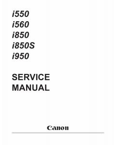 Canon PIXUS i560 i850S Service Manual