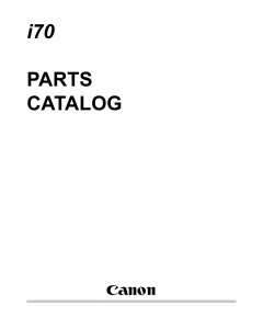 Canon PIXUS i70 50i Parts Catalog Manual