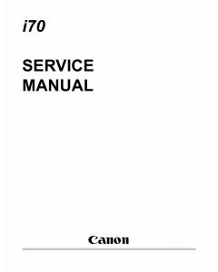 Canon PIXUS i70 50i Service Manual