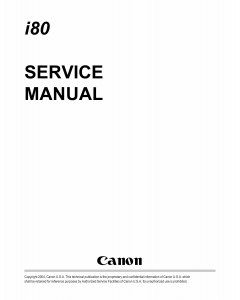Canon PIXUS i80 80i Service Manual