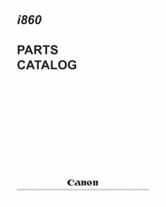 Canon PIXUS i860 Parts Catalog Manual