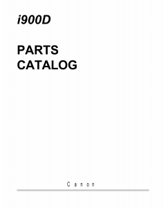 Canon PIXUS i900D Parts Catalog Manual
