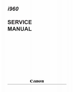 Canon PIXUS i960 i965 Service Manual
