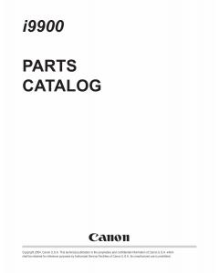 Canon PIXUS i9900 i9950 Parts Catalog Manual