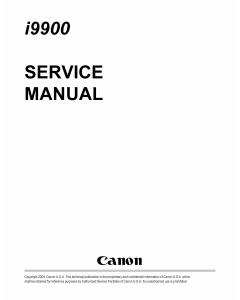 Canon PIXUS i9900 i9950 Service Manual