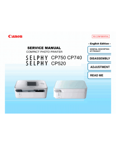 Canon SELPHY CP750 CP740 CP520 Service Manual