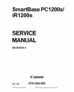 Canon SmartBase PC1200s iR1200s Service Manual