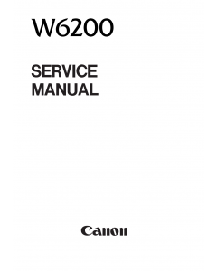 Canon Wide-Format-BubbleJet BJ-W6200 Parts and Service Manual