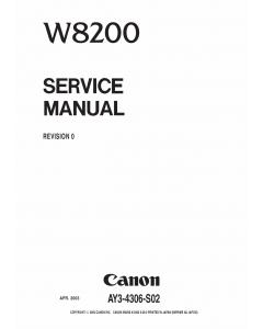 Canon Wide-Format-InkJet W8200 Service Manual