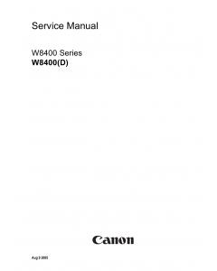 Canon Wide-Format-InkJet W8400D Service Manual