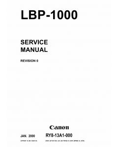 Canon imageCLASS LBP-1000 Service Manual