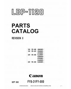 Canon imageCLASS LBP-1120 Parts Catalog Manual