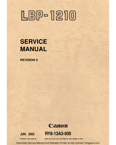 Canon imageCLASS LBP-1210 Service Manual