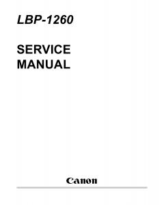Canon imageCLASS LBP-1260 Service Manual