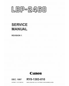 Canon imageCLASS LBP-2460 Service Manual