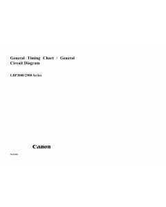 Canon imageCLASS LBP-3000 2900 Circuit Diagram