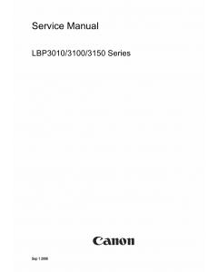 Canon imageCLASS LBP-3010 3100 3150 Service Manual