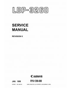Canon imageCLASS LBP-3260 Service Manual