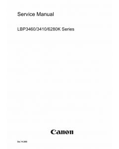 Canon imageCLASS LBP-3460 3420 6280K Service Manual