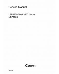 Canon imageCLASS LBP-3950 3900 3500 Parts and Service Manual