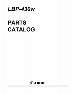 Canon imageCLASS LBP-430w Parts Catalog Manual