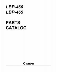 Canon imageCLASS LBP-460 465 Parts Catalog Manual