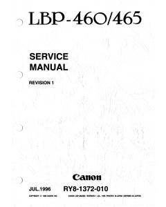 Canon imageCLASS LBP-460 465 Service Manual