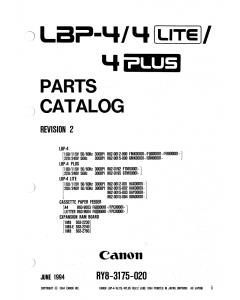Canon imageCLASS LBP-4 4i Parts Catalog Manual