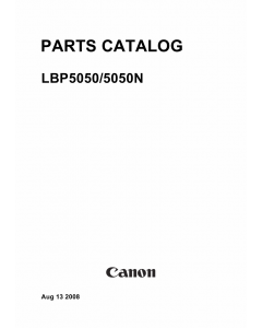 Canon imageCLASS LBP-5050 5050N Parts Catalog Manual