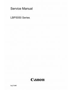 Canon imageCLASS LBP-5050 Service Manual