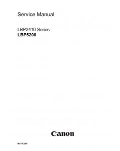 Canon imageCLASS LBP-5200 2410 Service Manual
