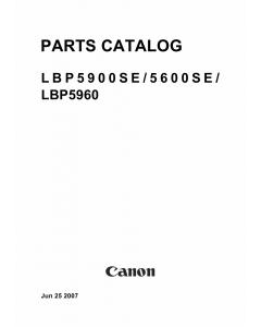 Canon imageCLASS LBP-5900SE 5600SE 5960 Parts Catalog Manual