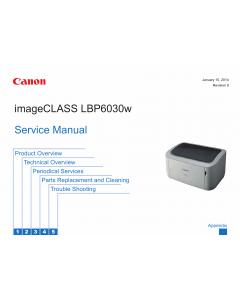 Canon imageCLASS LBP-6030w 6000 6018 6020 6030 Service Manual