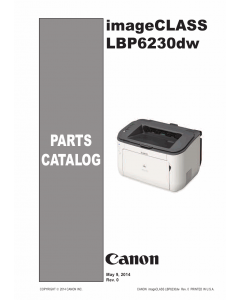 Canon imageCLASS LBP-6200 6230 6240 Parts Catalog Manual