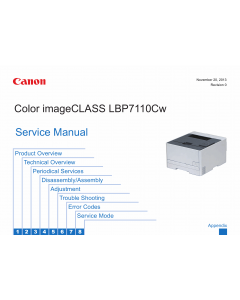 Canon imageCLASS LBP-7100C 7110Cw 7100Cn 7110C 7110Cn 7110 Service Manual