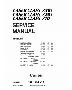 Canon imageCLASS LBP-730i 720i 710 Parts and Service Manual