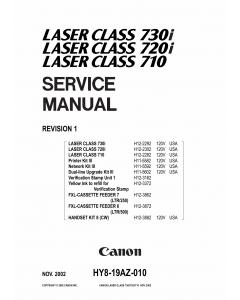 Canon imageCLASS LBP-730i 720i 710 Parts and Service Manual